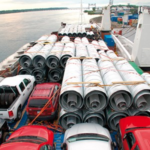 Spliethoff - General cargo - view from the bridge