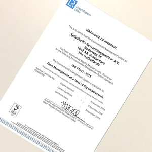 Certificate of approval ISO 14001
